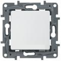 Legrand Etika Бел Выключатель 1-клавишный 10А, винт. клем. (672201)