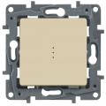 Legrand Etika Крем Выключатель 1-клавишный с подсветкой, 10А, винт. клем. (672303)