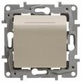 Legrand Etika Крем Выключатель карточный с выдержкой времени, с подсветкой (672393)