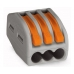 Клеммник Wago 222 413 3х0,08-4,2,5 мм2 с рычагами универсальные.
