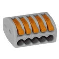 Клеммник Wago 222 415 5х0,08-4,2,5 мм2 с рычагами универсальные.