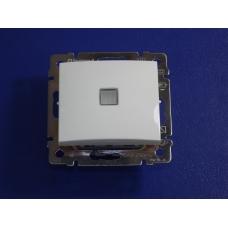Legrand Valena Выключатель промежуточный одноклавишный  белый с подсветкой