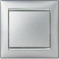 Valena Рамка 1п алюминий/серебряный штрих