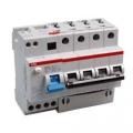 Дифференциальный автоматический выключатель  ABB DS204 C50 0,03A трёхфазный