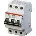 Электрический автомат защиты ABB S 203 C6 трёхполюсный трёхфазный